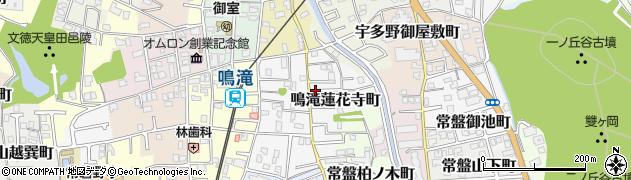 京都府京都市右京区鳴滝蓮花寺町周辺の地図