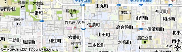 京都府京都市上京区信濃町周辺の地図