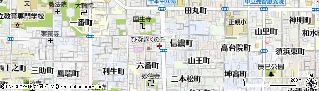 京都府京都市上京区百万遍町周辺の地図