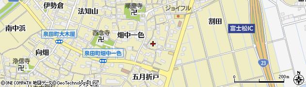 愛知県刈谷市泉田町(高畑一色)周辺の地図
