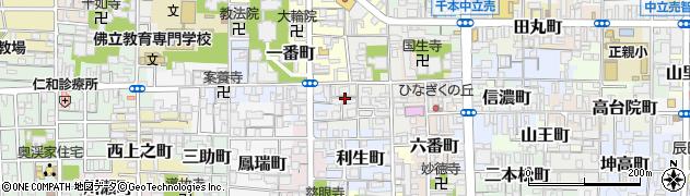 京都府京都市上京区白竹町周辺の地図