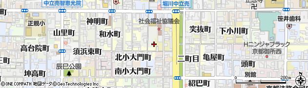 京都府京都市上京区猪熊一丁目周辺の地図