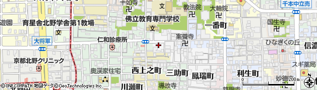 京都府京都市上京区鳳瑞町周辺の地図