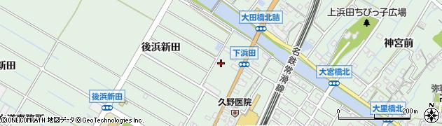 愛知県東海市大田町(後浜新田)周辺の地図
