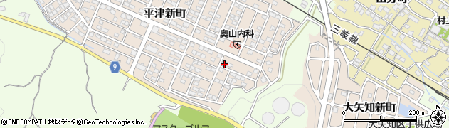 三重県四日市市平津新町周辺の地図