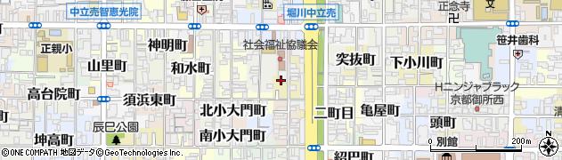 京都府京都市上京区南俵町周辺の地図