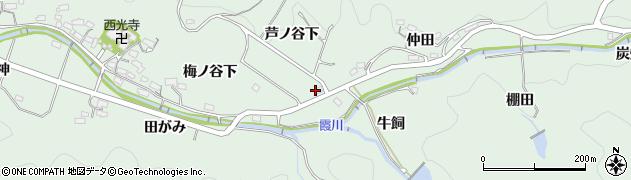 愛知県岡崎市奥殿町芦ノ谷下周辺の地図