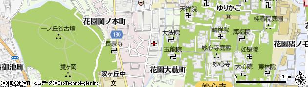 京都府京都市右京区花園一条田町周辺の地図
