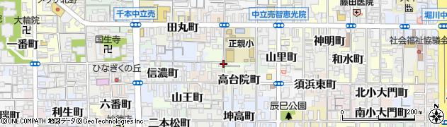 京都府京都市上京区菱丸町周辺の地図
