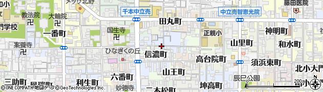 京都府京都市上京区西富仲町周辺の地図