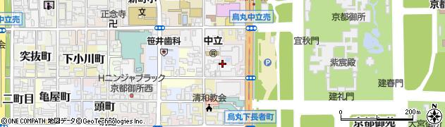 京都府京都市上京区龍前町周辺の地図