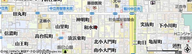 京都府京都市上京区常陸町周辺の地図