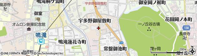 京都府京都市右京区宇多野御屋敷町周辺の地図
