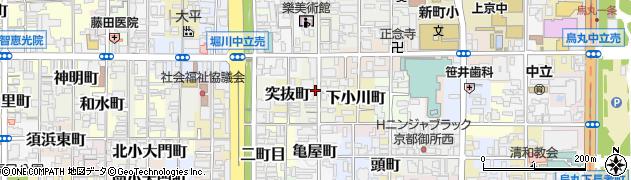 京都府京都市上京区甲斐守町周辺の地図
