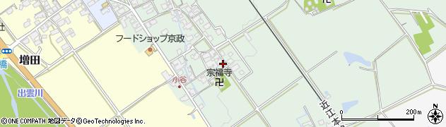 滋賀県日野町(蒲生郡)小谷周辺の地図