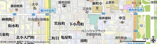 京都府京都市上京区下小川町周辺の地図