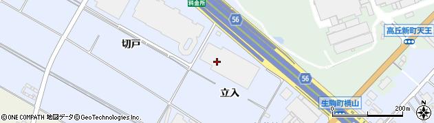 愛知県豊田市生駒町(立入)周辺の地図