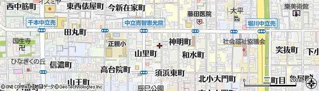 京都府京都市上京区須浜池町周辺の地図