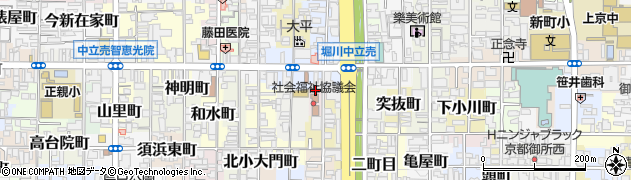 京都府京都市上京区北俵町周辺の地図