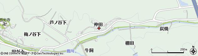 愛知県岡崎市奥殿町(仲田)周辺の地図