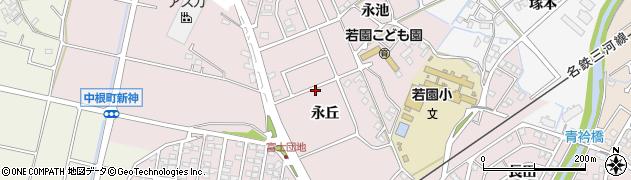愛知県豊田市中根町(永丘)周辺の地図