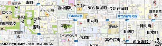 京都府京都市上京区丹波屋町周辺の地図