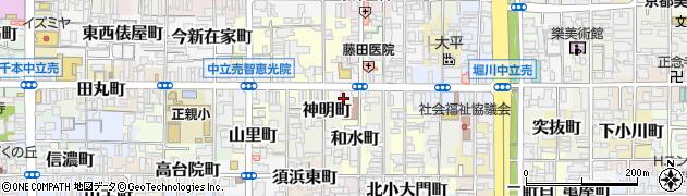 京都府京都市上京区新元町周辺の地図