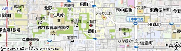 大輪院周辺の地図