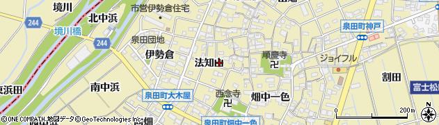 愛知県刈谷市泉田町(法知山)周辺の地図