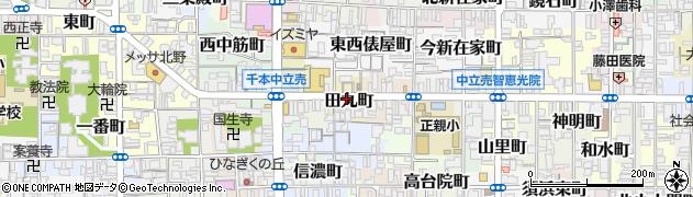 京都府京都市上京区田丸町周辺の地図