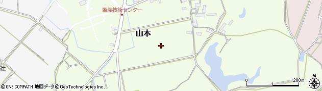 滋賀県日野町(蒲生郡)山本周辺の地図