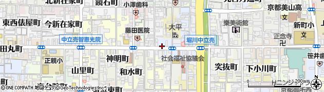 京都府京都市上京区役人町周辺の地図