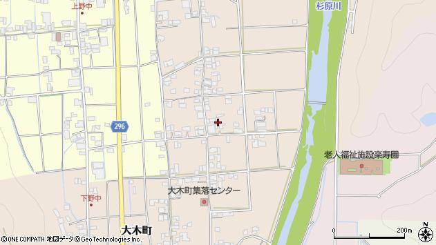 〒677-0001 兵庫県西脇市大木町の地図