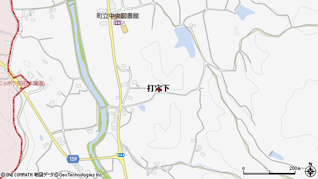 〒709-3702 岡山県久米郡美咲町打穴下の地図