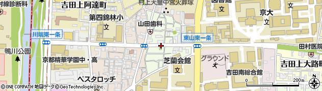 京都府京都市左京区吉田牛ノ宮町周辺の地図