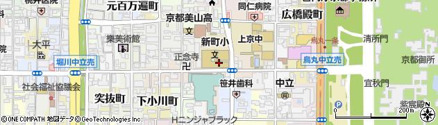 京都府京都市上京区三丁町周辺の地図