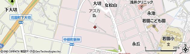愛知県豊田市中根町(新神)周辺の地図