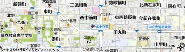 京都府京都市上京区亀屋町周辺の地図