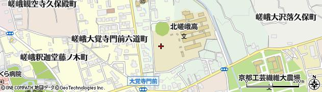 京都府京都市右京区嵯峨大覚寺門前登リ町周辺の地図