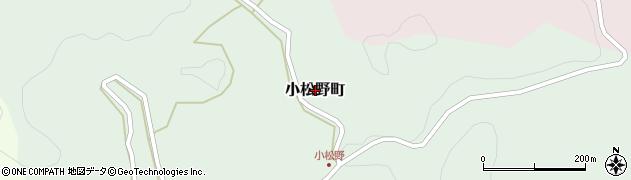 愛知県豊田市小松野町周辺の地図