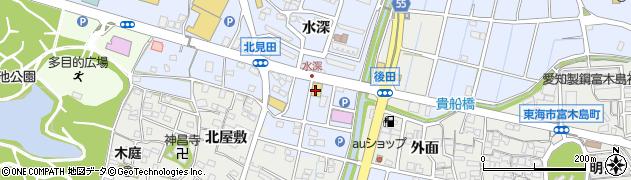 愛知県東海市荒尾町(水深)周辺の地図