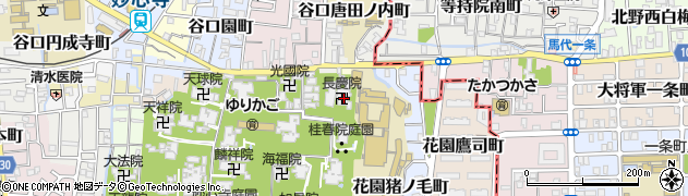長慶院周辺の地図
