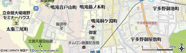 京都府京都市右京区鳴滝瑞穂町周辺の地図
