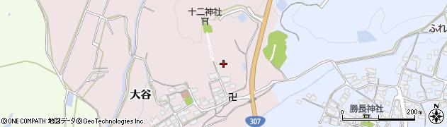 滋賀県日野町(蒲生郡)大谷周辺の地図