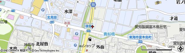 東海富木島・食堂周辺の地図