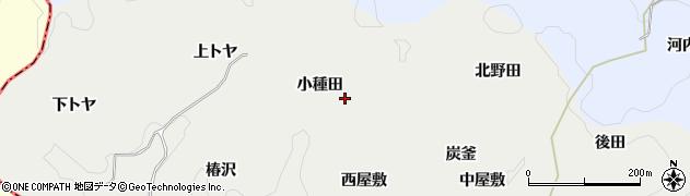 愛知県豊田市蕪木町(小種田)周辺の地図