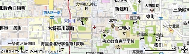 京都府京都市上京区大東町周辺の地図