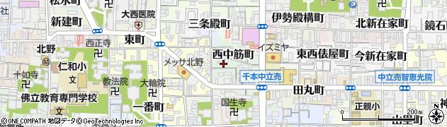 京都府京都市上京区西中筋町周辺の地図