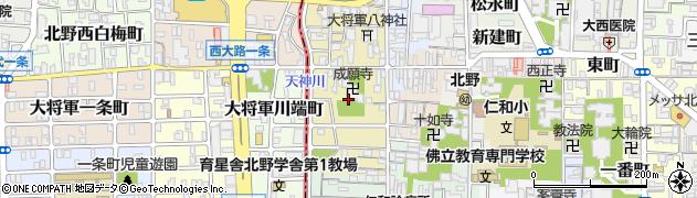 京都府京都市上京区西町周辺の地図