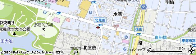 愛知県東海市荒尾町(北見田)周辺の地図